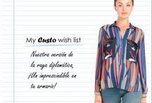 My Custo Wish List / Lista de deseos de Custo Barcelona. ¿Qué prenda añadirías? Custo Barcelona's Wish List. What would you add? / by Custo Barcelona