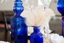 N + F Wedding / Modern +Contemporary, Gold, White &Blue NYE Wedding  / by Brittanie Seymone