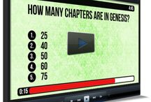 """Bible Trivia Countdowns / Download these awesome countdowns to use with your children, youth, or even """"big"""" church. These 5 minute videos include 10 trivia questions each about specific Bible passages.  www.childrens-ministry-deals.com / by Children's Ministry Deals"""