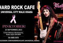 KATYA - HARD ROCK CAFE UNIVERSAL CITY WALK OSAKA / by Katya OF Katyamusic.com
