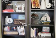 In the House ~ Bookshelves  / Making reading pretty / by {Living Outside the Stacks}