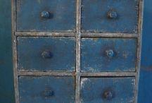 Olde prim drawer cabinets / Drawer pulls / by Heidi Adams Ramsey
