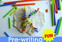 Pre-Writing Ideas for Toddlers and Preschoolers / Ideas for pre-writing skills / by Brittany @ Love, Play, Learn