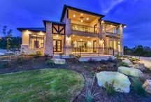 """Texas Hill Country Contemporary meets mountain ski lodge / Weston Dean Custom Homes - Model Home in """"The Canyons at Scenic Loop"""" Open Daily. www.westondeanhomes.com  210-408-9107 / by Weston Dean Custom Homes"""