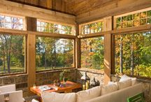Lots of legroom / Home addition - 3/4 season porch / by Denise Lachinski