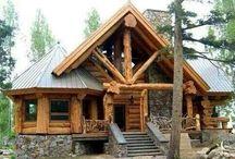 Log Home Exteriors / by LogFinish.com