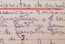 1) Receitas manuscritas / by Clarisse Peres