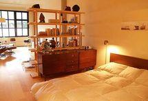 studio apartment ideas / by Leslee Woodyard