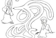 Bible coloring sheets and printouts / by Pam Kinser