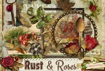 Rust And Roses Digital Scrapbook Kit / A beautiful vintage style scrapbook collection from Raspberry Road Designs.  / by Raspberry Road Designs