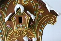 Christmas Gingerbread Houses / Handmade Houses / by MakingArtMatters
