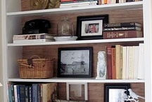 bookcase styling / by Vivien Jordan