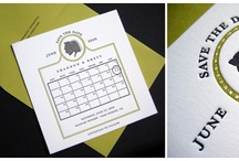 save the dates / by Copper Willow Paper Studio