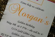 Golden Birthday Party  / by BellaGrey Designs