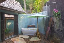 Al frescho Showers / Get fresh with an outdoor shower / by adelto - luxury travel, resorts, hotels, lifestyle, interior design & homes