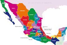 MEXICO 2 / En este tablero se encuentran los 16 estados restantes, y el distrito federal. / by Emma Alexandre
