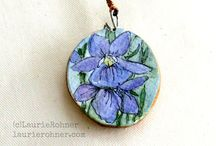 Painted Nature Art Pendants / by Laurie Rohner Studio