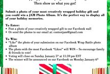 JAM Paper 2013 Wrap Battle: A Gift Wrapping Contest / Submit a photo of your creatively wrapped gift to contestjam@gmail.com or facebook.com/jampaper and you could win a JAM Photo Album - great for all those holiday memories. Whoever gets the most likes wins! / by JAM Paper