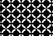 Black and white Fabric / my black and white fabric designs / by Flea Market Trixie
