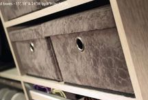 NEW QUILTED STORAGE ACCESSORIES / by CaliforniaClosetsMN