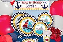 Ahoy Matey Party Supplies / Create the perfect nautical themed party with these awesome decorations! / by Shindigz