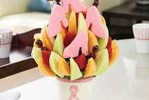 Step Up and Support a Good Cause / During the month of October, we donate 10% of the sales from every item in our Breast Cancer Awareness Collection to the National Breast Cancer Foundation and the Breast Cancer Society of Canada. A great way to do good with your gift! The fruit arrangements in this collection feature (pink) white chocolate in honor of Breast Cancer Awareness Month. / by Edible Arrangements