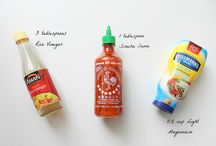 Sauce / dressing / by E Hatcher
