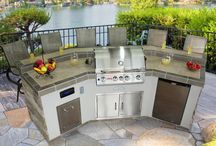 Outdoor BBQ Kitchen Islands / Beautiful outdoor kitchen islands for any backyard / by Best in Backyards