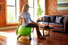 Active Sitting / Your chair is prehistoric. Instead of just sitting at your desk you could be working your core, aligning your spine, and improving your posture. Find out why you should ditch your regular desk chair for an active sitting Balance Ball Chair today. / by Gaiam