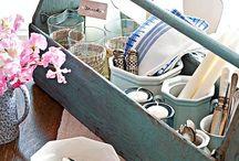 Vintage tool caddies and tool boxes / by Vintage Market & Paint Studio