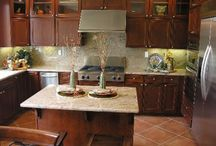 Kitchen Backsplash Ideas / Kitchen Backsplash Ideas, The kitchen is one of the most used rooms for the family, especially the wife who spends most of her time in the kitchen, so the kitchen should be a reflection of everyone's personality. The kitchen backsplash is a significant space that has a unique ability to create magic ideas with your creative touch. / by kitchen designs 2014 - kitchen ideas 2014 .