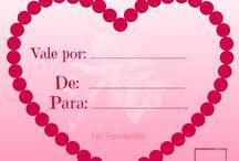 Cupones para el Día del Amor, San Valentín, Día de la Amistad / Descarga aquí tus cupones de amor / by Eliana Tardio