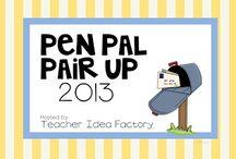 pen pals / by Linda Kaehler O'keefe