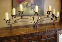 Hand Forged Wrought Iron Railing - Custom Wrought Iron Lighting / by Demejico Inc