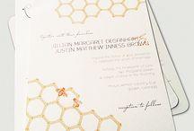 Honeybee Theme Wedding Invites /   / by Alissa