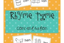 {Classroom Literacy} Rhyming / Word Families / Activities, worksheets, crafts, ideas, games, etc. that center around the theme of RHYMING / WORD FAMILIES / by Heather Mix
