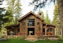 Log Cabbins/ Timber frames / by Shannon White