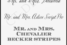 Roundup Post: Wedding Stationery Fonts / by Heather Walrath
