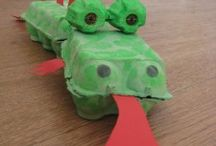 Egg Carton Crafts & Decor / Have your kids collect egg cartons and try out some of these great recycled kid's crafts! / by Surviving a Teacher's Salary