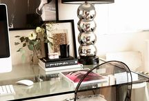 Desk inspiration + Work Spaces  ♥ / by Tara ♥