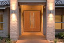 Simpson Artist Collection Doors / Simpson Artist Collection wood exterior doors, designed by award-winning architect James L. Cutler, FAIA, feature clean, simple lines, with a range of glass options. www.simpsondoor.com / by Simpson Door Company