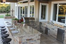 Outdoor kitchen and patio / by Natalie Petrilla