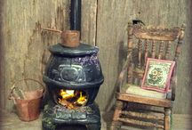 11. Mini Stoves & Fires DIY / From fire surrounds to wood burning stoves; fire irons to log baskets  / by Pauline Coombes