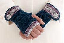 crochet gloves, mittens, hand warmers / by Sara Rivka Dahan