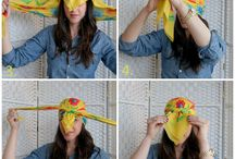 Wrap It Up / Head scarves ideas and instructions.  / by TeJota