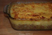 recepten ovenschotels, hartige taarten / by sylvia