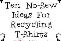 CREATIVE: Clothing Upcycling- T-Shirts / CRAFTS: T-Shirt Upcycle / by Blue Velvet Moon Weddings & Events