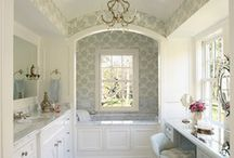 A wooded retreat - guest bathroom / by Glenna Stone Interior Architecture + Design