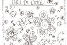 Zentangles and Doodles / by Edie Blough