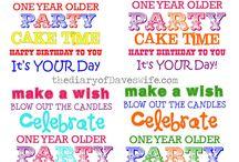 Birthday and Celebrations / by Dana White
